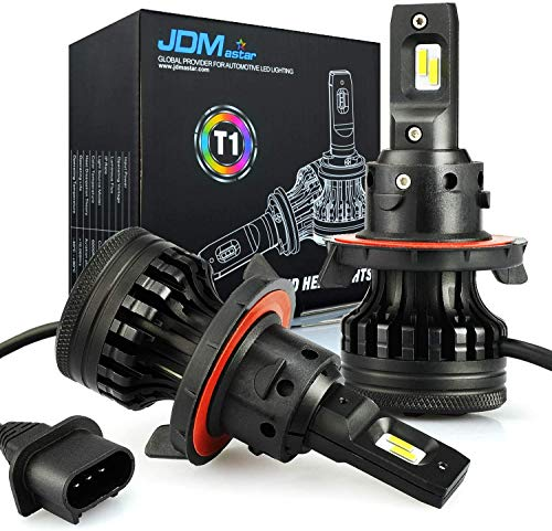 JDM ASTAR T1 H13 9008 All-in-One Upgrade Vision White LED Headlight Bulbs