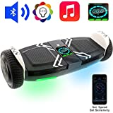 OSDRICH A8 Hoverboard with Bluetooth Speaker Self Balancing Scooter, LED Lights, Smart App Control (UL 2272 Certified) (White)