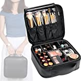 """Smart Organizer  Main compartment includes 6 adjustable EVA dividers, DIY your needed slots; Makeup brushes holder with plastic cover, give your brushes a safe """"home"""", & it is easy to wipe clean; Hidden zipper pocket for privacy items..  Durable ..."""