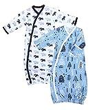 Cambria Baby 100% Organic Kimono Gowns. Side