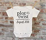 Plot Twist Pregnancy Reveal Onesie, Reveal to Husband, Custom Baby Onesie, Pregnancy Announcement, Customized Onesie, Coming Soon Onesie