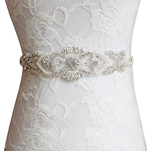 E Clover Bridal Crystal Pearls Wedding