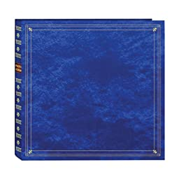 Pioneer Photo Albums 300-Pocket Post Bound Leatherette Cover Photo Album for 3.5 by 5.25-Inch Prints, Royal Blue