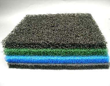 4 Sheets 4 Color Matala Pond Filter Mat Koi Media Pad 39'' X 24''