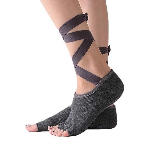 HappyTime Calcetines de Yoga Correas Cruzadas para Mujeres ...
