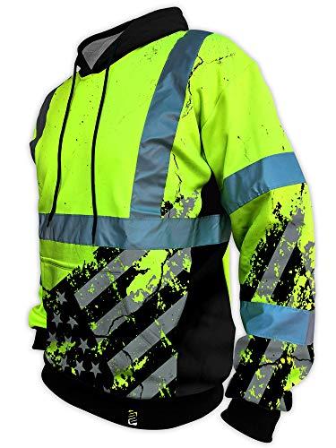 - SafetyShirtz SS360 American Grit Hoodie ANSI Class 3 L