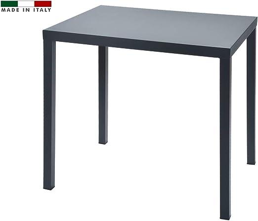RD ITALIA Table 60 x 80 en métal Couleur Anthracite pour ...