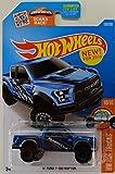 Hot Wheels, 2016 HW Trucks, '17 Ford F-150 Raptor [Blue] Die-Cast Vehicle #150/250