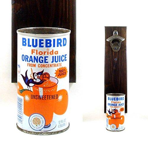 wall-mounted-beer-bottle-opener-with-a-vintage-bluebird-florida-orange-juice-can-cap-catcher
