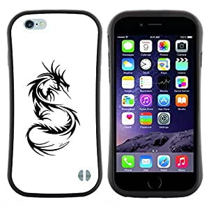 "Hypernova Slim Fit Dual Barniz Protector Caso Case Funda Para Apple (4.7 inches!!!) iPhone 6 / 6S (4.7 INCH) [Decal Negro Blanco Monster Tattoo""]"