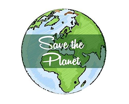 Save the Planet Vinyl Sticker, Peace Hand Sticker, Scrapbooking Hippie Decal, Earth Bumper Sticker, Laptop, Environmental Global ()