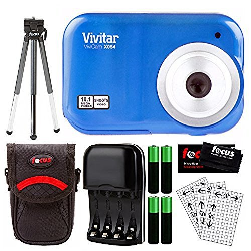 Vivitar ViviCam X054 10.1MP Digital Camera, Blue Digital Blue Vivitar Vivicam