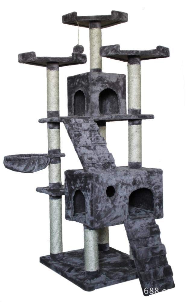C Aoligei Cat Play Towers & Trees Station Cat Tree pet cat Furniture 60  50  183cm