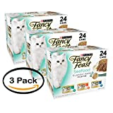 Pack of 3 – Purina Fancy Feast Classic Seafood Feast Collection Cat Food 24 pcs 3 oz cans For Sale