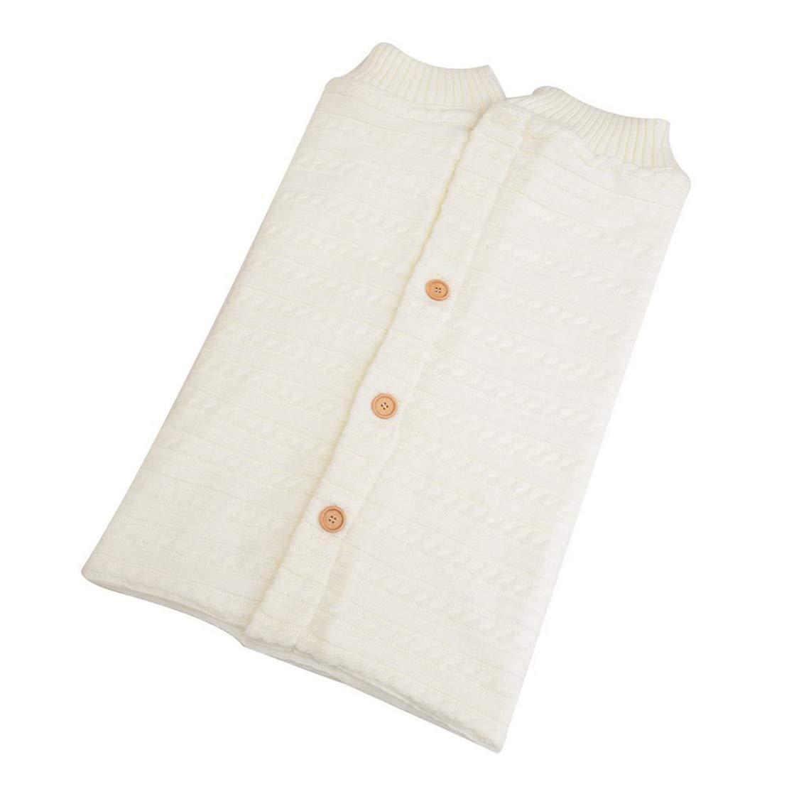 Unisex Swaddle Blanket Beb/é Reci/én Nacido de 0-6 Meses para Cochecito Invierno Caliente C/ómodo Mantas Envolventes Saco de Dormir de Punto Felpa