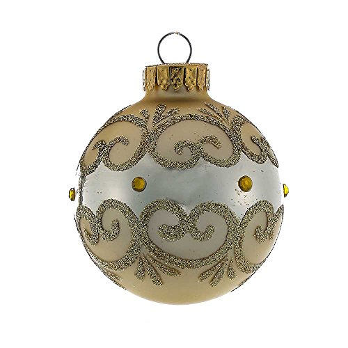 - Kurt Adler GG0662 60mm Matte Gold Ball Ornament Set of 4