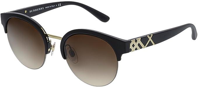 6eb9689a1f6 Burberry Women s Gradient BE4241-346413-52 Black Semi-Rimless Sunglasses