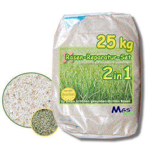 RASEN - REPARATUR - SET 2in1 Nachsaat - MIX Spezialsand + heimischer Qualitäts Grassamen