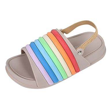 239345a14bb05 Amazon.com: Girls Sandals Toddler, Summer Slides Open Toe Beach ...