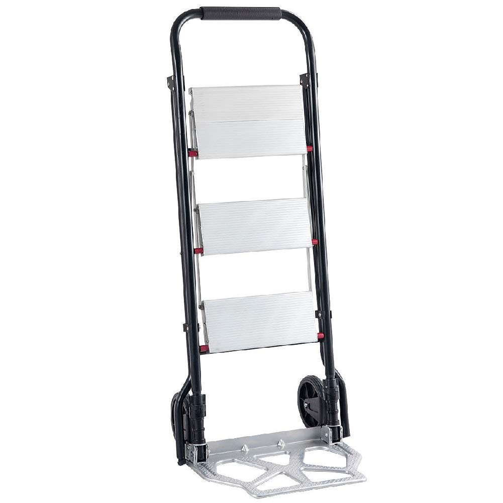 Convertible Folding Ladder Hand Truck Trolley Retail Stores Cart Wheels 3 Step