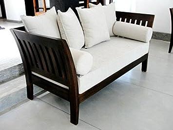 Great LifeEstyle Com Sheesham Wood Sofa Set With Cushion Without Covers(3+1+