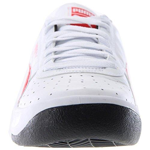 PUMA Herren GV Special Fashion Sneaker Weiß / High Risk Rot / Schwarz
