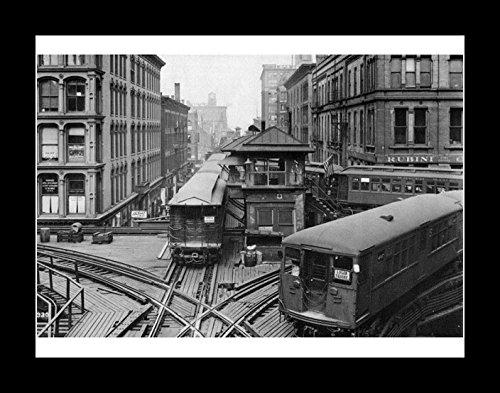 8 x 10のすべての木製額入り写真シカゴL Trains 1920   B0778YRVVS