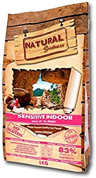 Comprar Natural Greatness Sensitive Indoor Alimento Seco Completo para Gatos - 2000 gr