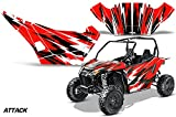 AMRRACING Arctic Cat Wildcat Sport Limited Full Custom UTV Graphics Decal Kit Attack Red