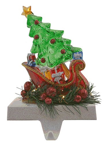 Lighted Sleigh with Tree LED Stocking Holder [31952]]()