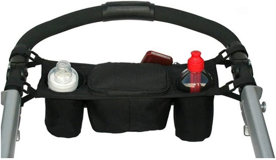 Black Baby Stroller Organizer Baby Prams Carriage Bottle Cup Holder Bag for Pram Buggy Baby Stroller Accessories Wheelchair Bag