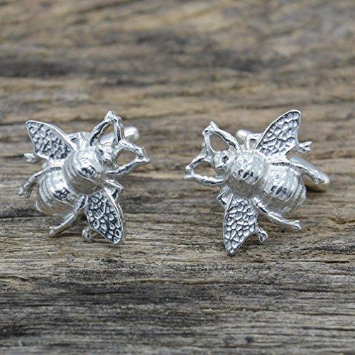 William Sturt Fine Pewter Luxury Handmade Fine Pewter Honey Bee Cufflinks by William Sturt Fine Pewter (Image #1)