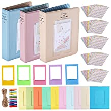 Neewer 23-in-1 Stickers and Frames Accessory Kit for Fujifilm Mini Instax 7 7s 70 8 8+ 25 90 and 50s, Includes: Photo Albums, Sticker Papers, Film Table Frames and Hanging Frames