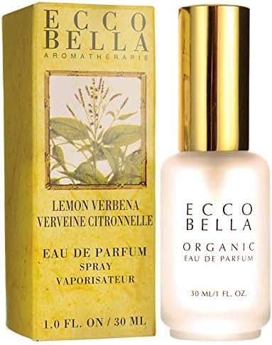 Ecco Bella Organic Eau de Parfum | Natural Lemon Verbena Perfume Spray with Essential Oils, 1 Fluid Ounce