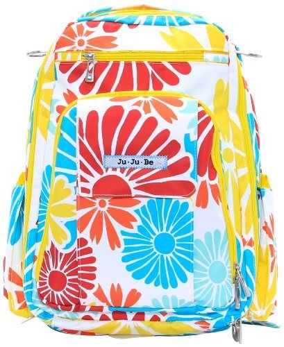 Ju-Ju-Be Be Right Back Backpack Diaper Bag, Flower Power (Discontinued by Manufacturer) by Ju-Ju-Be