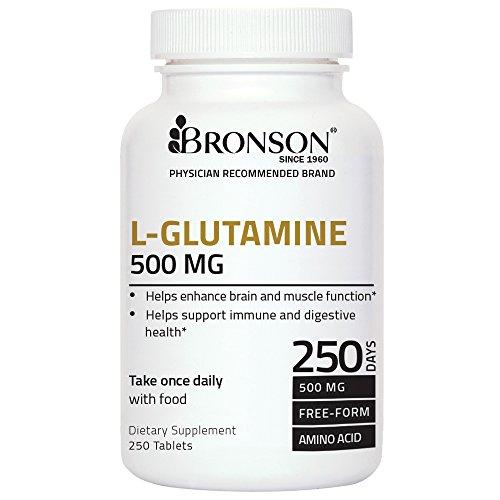 Bronson L-Glutamine 500 mg, 250 Tablets