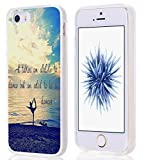 Case for Iphone SE/5/5S Bible Verses Christian Quote Pattern Print He Takes An Althlete To Dance But An Antiot To Be A Dancer