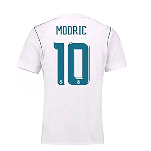 17 18 Real Madrid  10 Luka Modric Home Mens Soccer Jersey Color White Size ff2adc29a