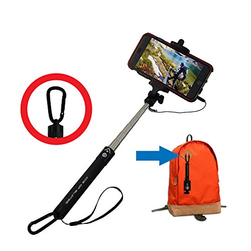 buy ace of slates wired selfie stick with carabiner for smartphones from amazon. Black Bedroom Furniture Sets. Home Design Ideas
