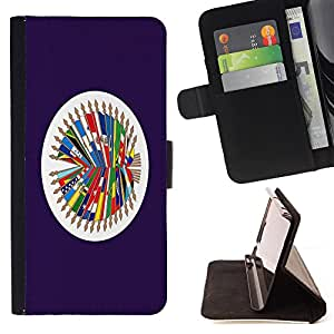 - Flag - - Premium PU Leather Wallet Case with Card Slots, Cash Compartment and Detachable Wrist Strap FOR Samsung Galaxy Note 4 SM-N910 N910 IV King case