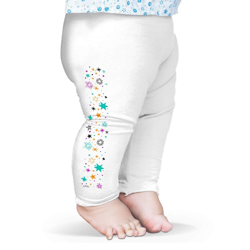 Twisted Envy Baby Leggings Pastel Stars Pattern Baby and Toddler Girls Leggings