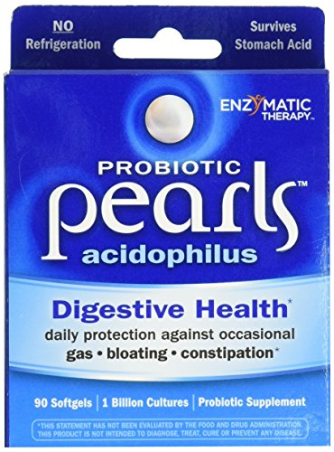 Enzymatic Therapy Acidophilus Pearls 1 Billion CFU (90 Capsules) - Enzymatic Therapy Acidophilus Pearls