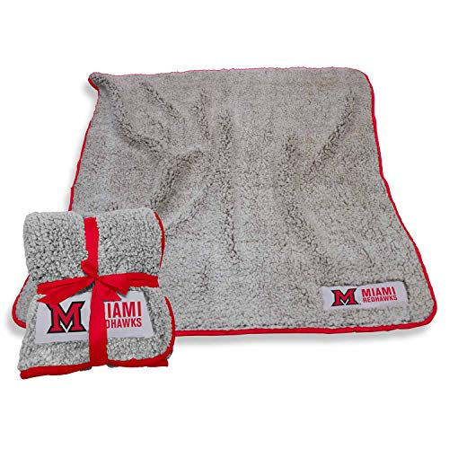 LOGO Miami Redhawks NCAA Frosty Fleece 60 X 50 Blanket - Team Color