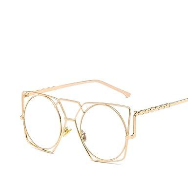 88707af0cd AODEW Vintage Irregular Cat Eye Glasses Metal Hollowed-out Sunglass  Geometry Design Women Metal Frame