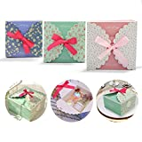 15 pcs 5.7''x5.7''x3.6'' Craft Gift Boxes, Decorative Treats Boxes, 350gms Premium Paper, Perfect to Wrap Cookies, Goodies, Gifts for Parties, Birthdays, Weddings, Baby Shower
