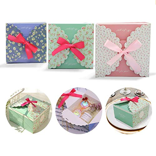15 pcs 5.7''x5.7''x3.6'' Craft Gift Boxes, Decorative Treats Boxes, 350gms Premium Paper, Perfect to Wrap Cookies, Goodies, Gifts for Parties, Birthdays, Weddings, Baby Shower by VGoodall