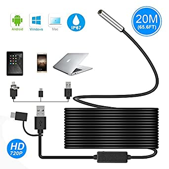 5.5mm Endoscope Waterproof Borescope Inspection Camera 6 LED For Andorid YH