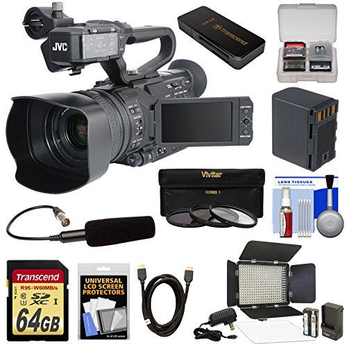 jvc-gy-hm170u-ultra-4k-hd-4kcam-professional-camcorder-top-handle-audio-unit-with-xlr-microphone-64g