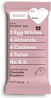 product image for RXBAR Valentine's Day Chocolate Raspberry, Gluten Free Protein Bar,1.83oz, Pack of 12