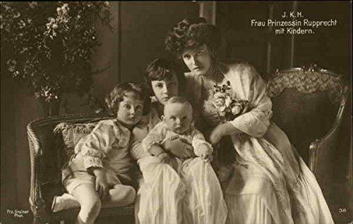 princess-rupprecht-of-bavaria-and-children-royalty-bavaria-original-vintage-postcard